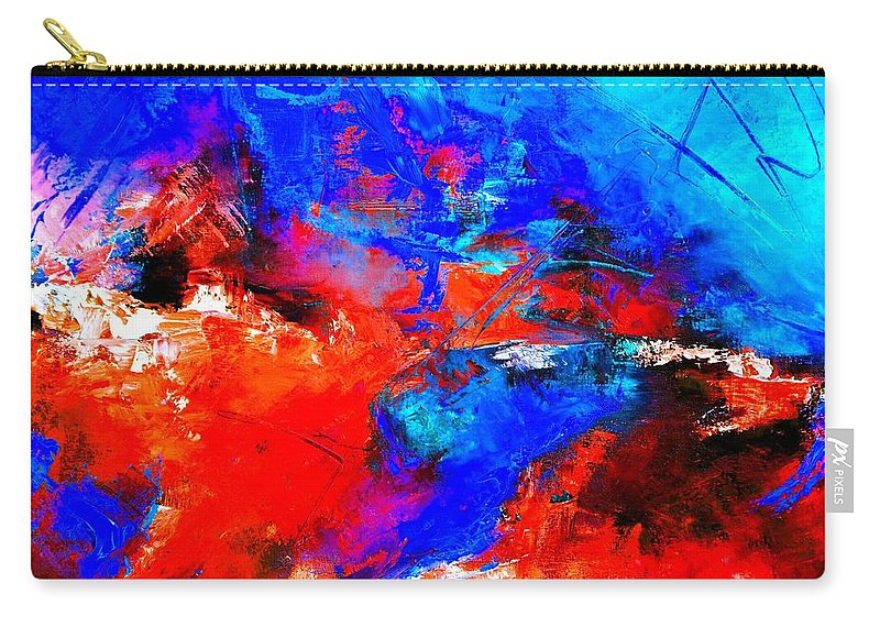 Abstract Carry-all Pouch featuring the painting Abstract 9683805 by Pol Ledent
