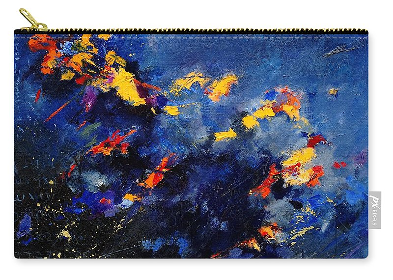 Abstract Carry-all Pouch featuring the painting Abstract 971207 by Pol Ledent