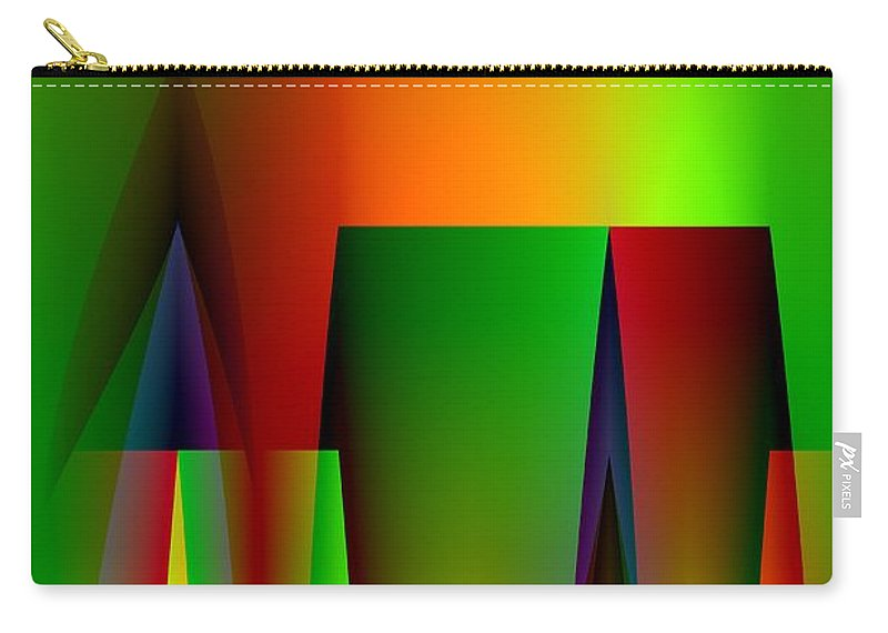 Abstract A018 Carry-all Pouch featuring the digital art Abstract A018 by Maria Urso