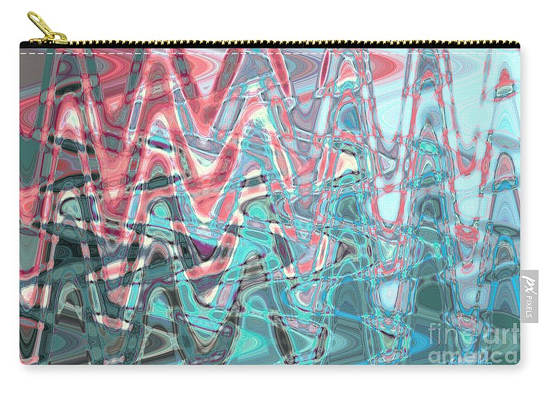 Digital Art Carry-all Pouch featuring the photograph Abstract Approach Iv by Tatjana Popovska