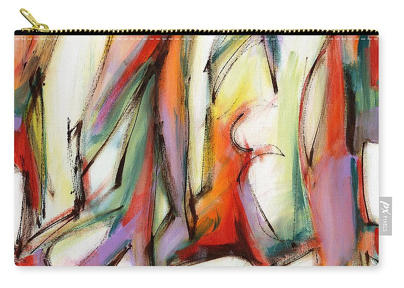 Abstract Carry-all Pouch featuring the painting Abstract Art Forty-six by Lynne Taetzsch