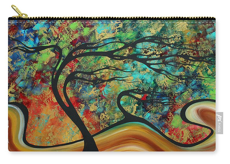 Art Carry-all Pouch featuring the painting Abstract Art Original Landscape Wild Abandon By Madart by Megan Duncanson