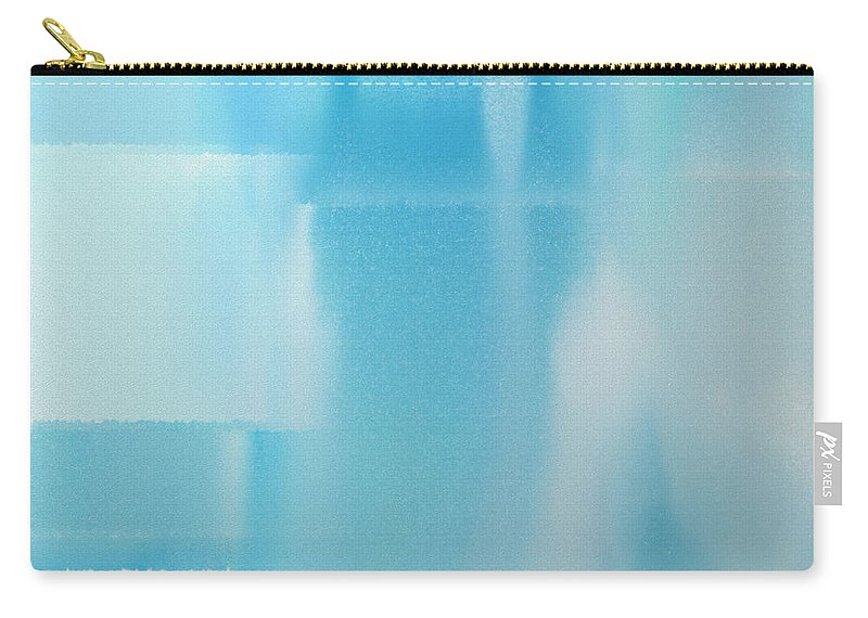 Andee Design Abstract Carry-all Pouch featuring the digital art Abstract Blue 2 Square by Andee Design