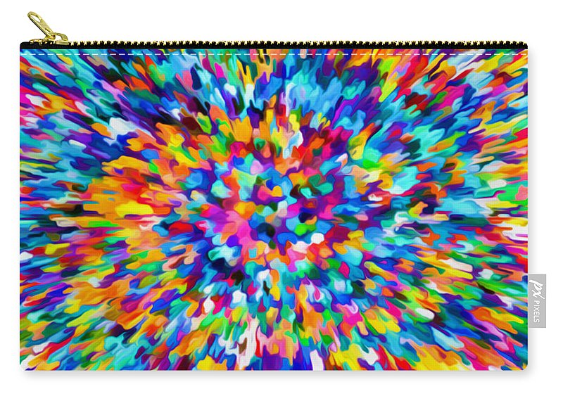 Confetti Carry-all Pouch featuring the painting Abstract Colorful Splash Background 1 by Jeelan Clark