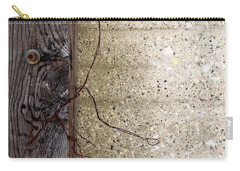 Industrial. Urban Carry-all Pouch featuring the photograph Abstract Concrete 11 by Anita Burgermeister