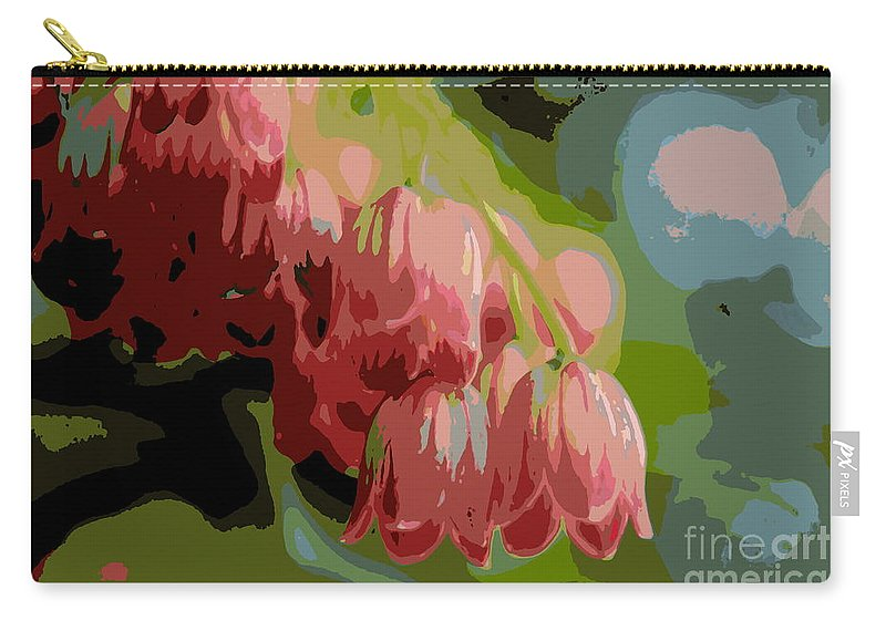 Plant Carry-all Pouch featuring the photograph Abstract Coral Bells by Kenny Glotfelty