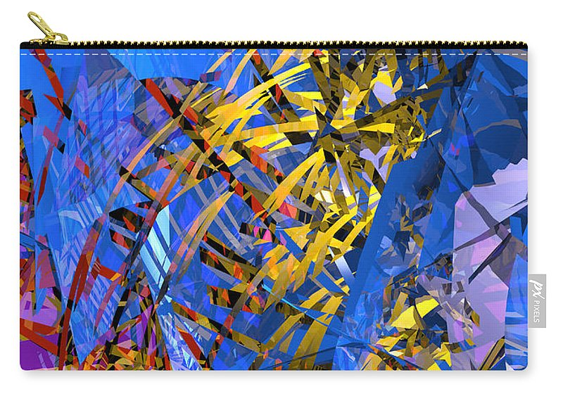 Abstract Carry-all Pouch featuring the digital art Abstract Curvy 11 by Russell Kightley