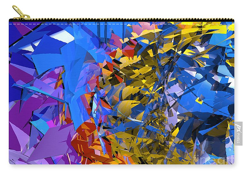 Abstract Carry-all Pouch featuring the digital art Abstract Curvy 13 by Russell Kightley