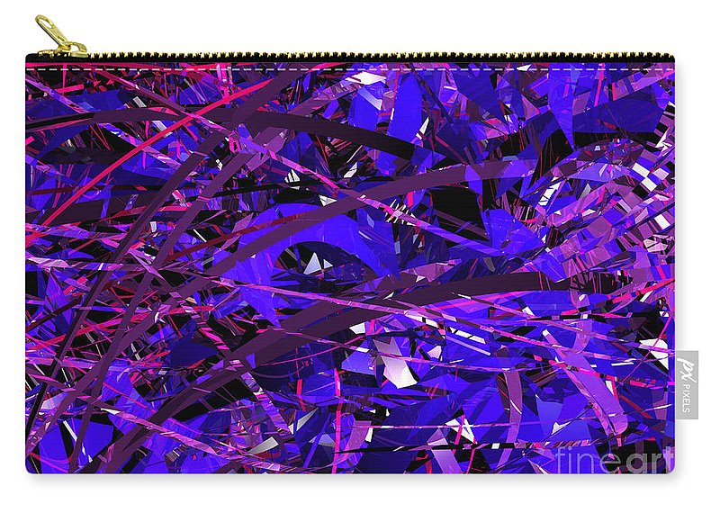 Abstract Carry-all Pouch featuring the digital art Abstract Curvy 16 by Russell Kightley