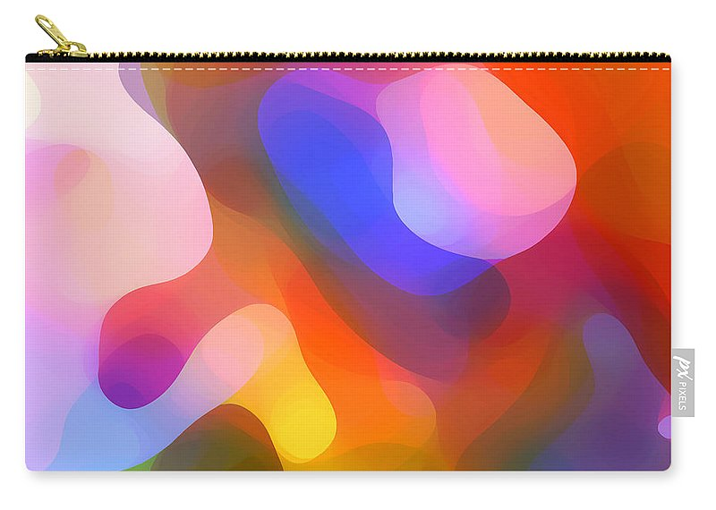 Abstract Art Carry-all Pouch featuring the painting Abstract Dappled Sunlight by Amy Vangsgard