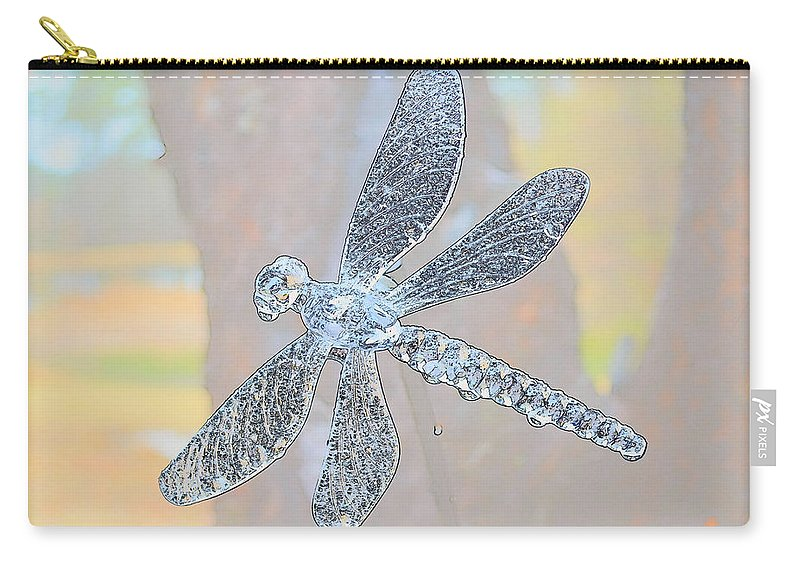 Dragonfly Carry-all Pouch featuring the photograph Abstract Dragonfly by Sherman Perry