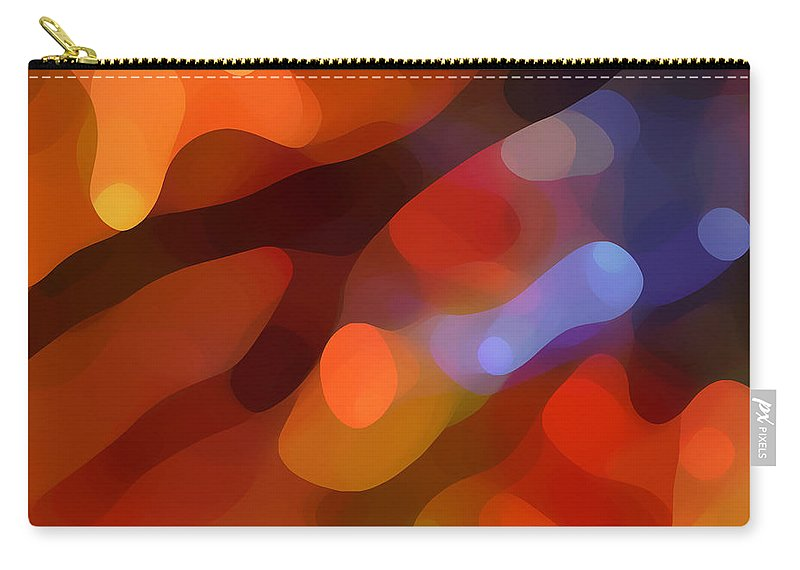 Abstract Art Carry-all Pouch featuring the painting Abstract Fall Light by Amy Vangsgard