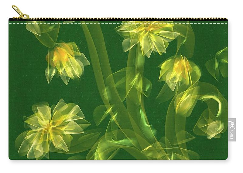 Flower Carry-all Pouch featuring the painting Abstract Flower Field by Veronica Minozzi