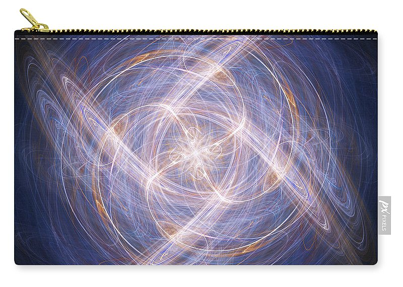 Abstract Carry-all Pouch featuring the digital art Abstract Fractal Background 17 by Antony McAulay