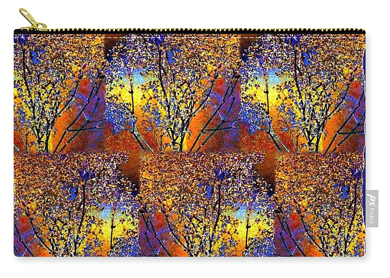Abstract Fusion Carry-all Pouch featuring the digital art Abstract Fusion 142 by Will Borden