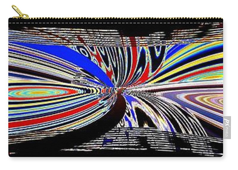 Abstract Fusion Carry-all Pouch featuring the digital art Abstract Fusion 197 by Will Borden