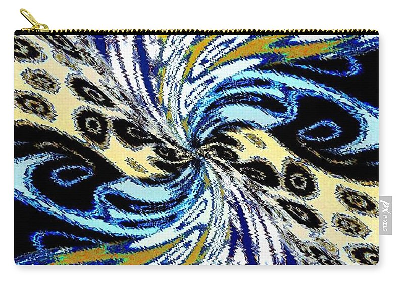 Abstract Fusion Carry-all Pouch featuring the digital art Abstract Fusion 198 by Will Borden