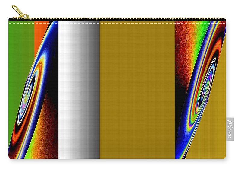 Abstract Fusion 211 Carry-all Pouch featuring the digital art Abstract Fusion 211 by Will Borden