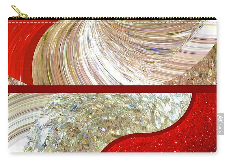 Abstract Fusion 218 Carry-all Pouch featuring the digital art Abstract Fusion 218 by Will Borden