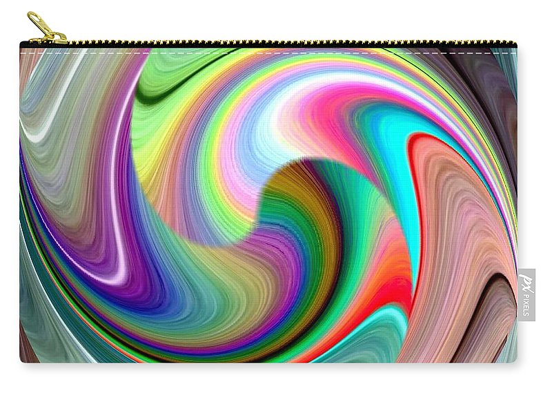 Abstract Fusion 241 Carry-all Pouch featuring the digital art Abstract Fusion 241 by Will Borden