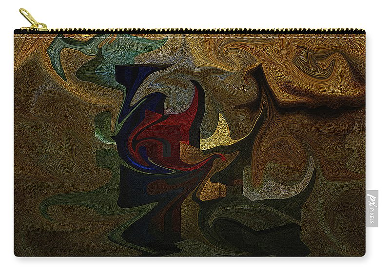Geometries Carry-all Pouch featuring the digital art Geometries by Ramon Martinez