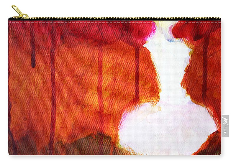 Abstract Carry-all Pouch featuring the painting Abstract Ghost Figure No. 2 by Nancy Merkle