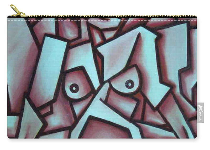 Abstact Carry-all Pouch featuring the painting Abstract Girl by Thomas Valentine