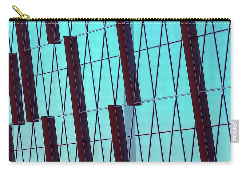 Ceiling Carry-all Pouch featuring the photograph Abstract Glass Surface With Geometric by Aapsky