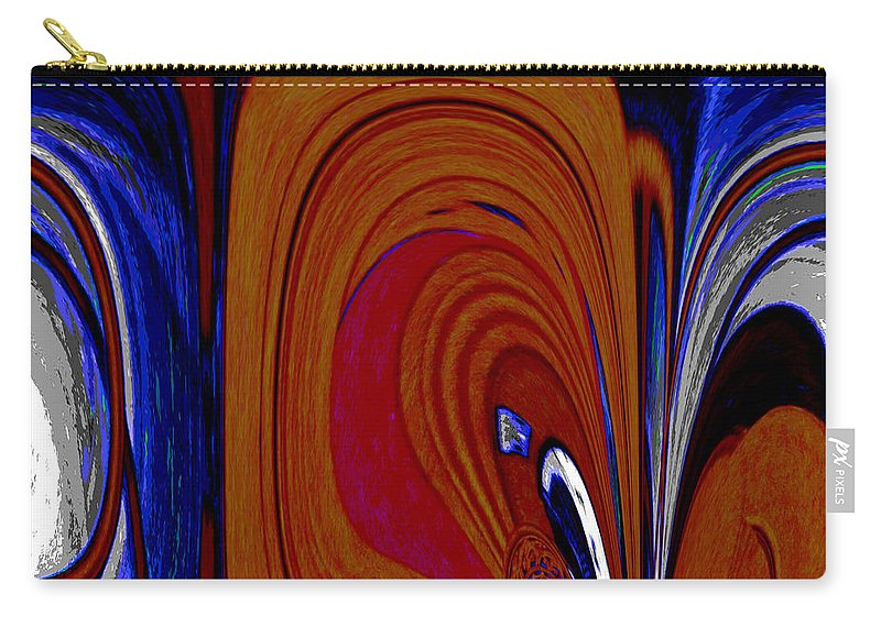 Carry-all Pouch featuring the digital art Abstract I by Michelle Deschenes