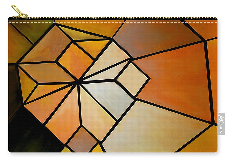 Abstract Carry-all Pouch featuring the digital art Abstract Impossible Warm Figure by Gina Dsgn