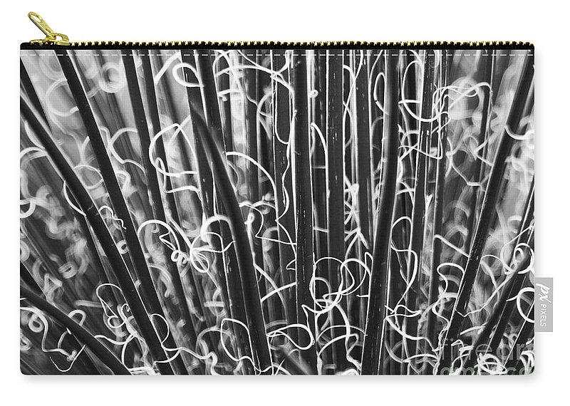Abstract Carry-all Pouch featuring the photograph Abstract In Black And White by Crystal Nederman