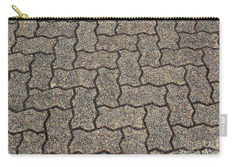 Backdrop Carry-all Pouch featuring the photograph Abstract Interlocking Pavement by Tikvah's Hope