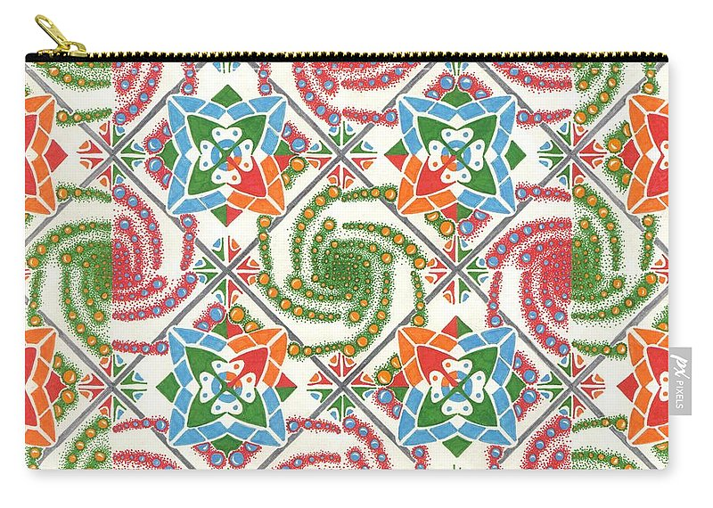 Color Carry-all Pouch featuring the drawing Abstract by Jeff Blevins