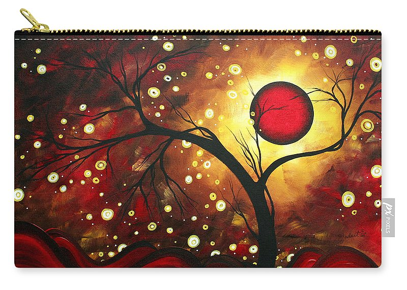 Abstract Carry-all Pouch featuring the painting Abstract Landscape Glowing Orb By Madart by Megan Duncanson