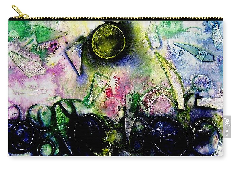 Abstract Carry-all Pouch featuring the mixed media Abstract Landscape II by John Nolan