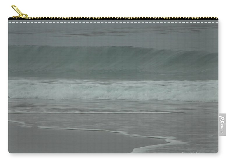Ocean Carry-all Pouch featuring the photograph Abstract Motion by Donna Blackhall