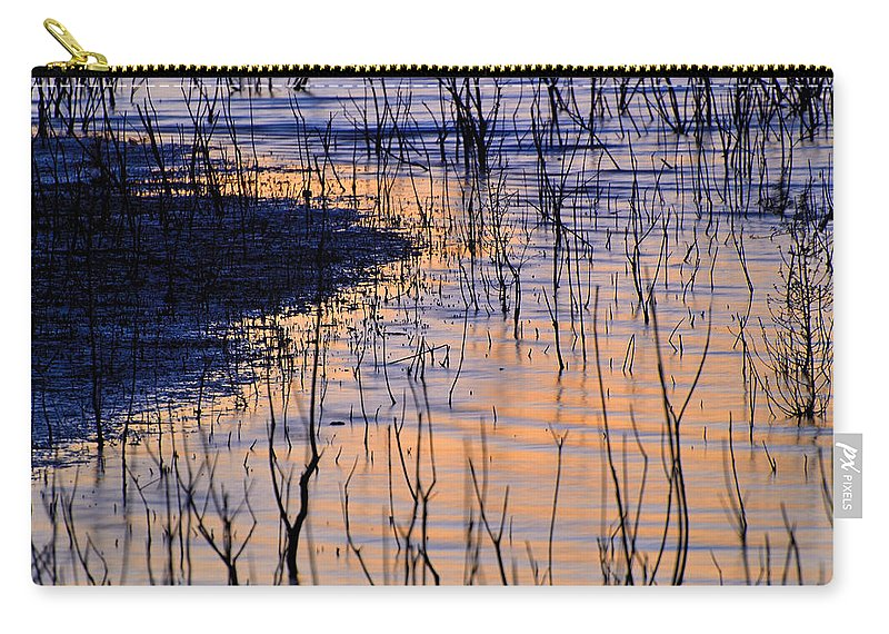Sunset Carry-all Pouch featuring the photograph Abstract Nature At Sunset by Guido Montanes Castillo
