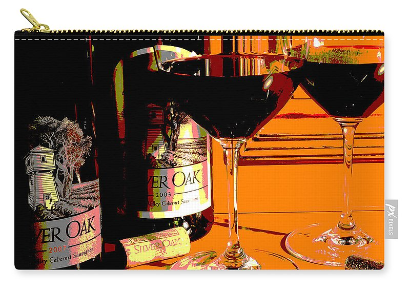 Wine Carry-all Pouch featuring the photograph Abstract Oak by Jon Neidert