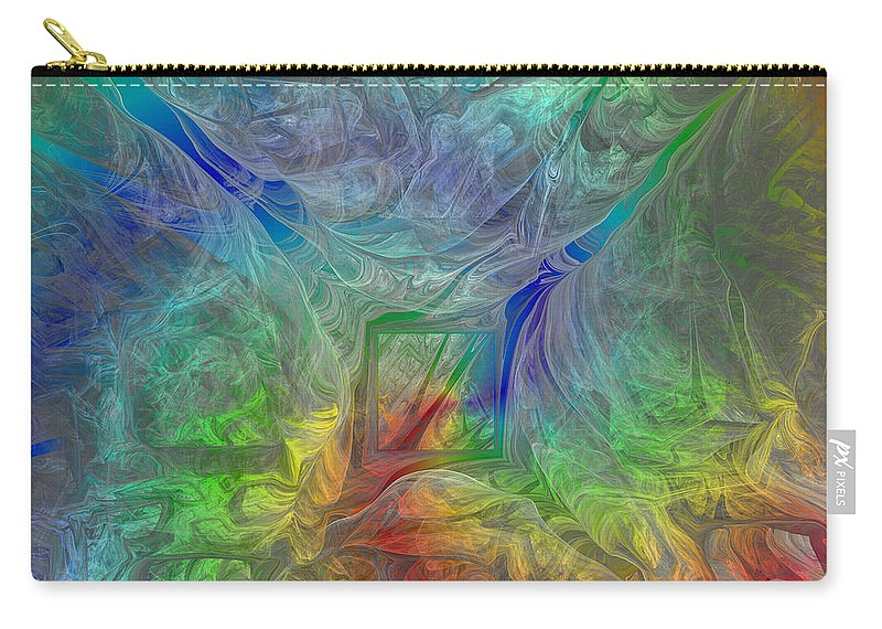 Digital Carry-all Pouch featuring the digital art Abstract Of Dreams by Deborah Benoit