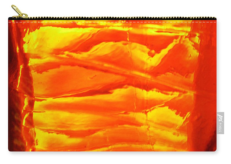 Orange Carry-all Pouch featuring the photograph Abstract Orange by Amanda Barcon
