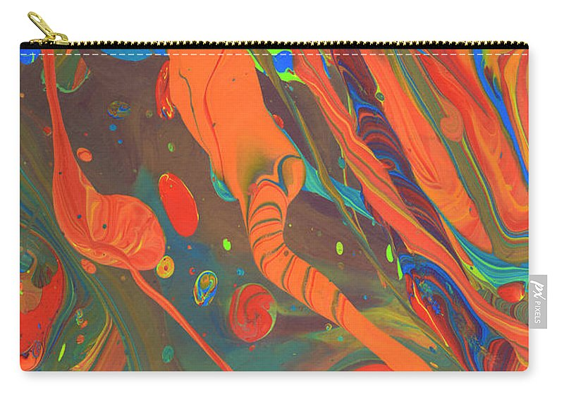 Full Frame Carry-all Pouch featuring the photograph Abstract Paint Background by Don Farrall