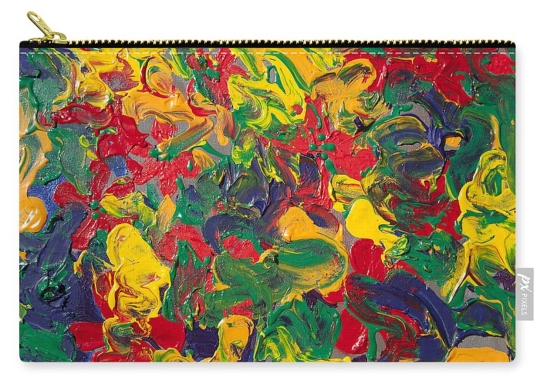abstract painting color explosion carry all pouch for sale by