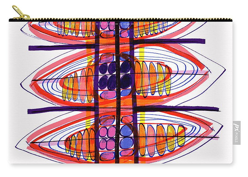Abstract Carry-all Pouch featuring the drawing Abstract Pen Drawing Fifty by Lynne Taetzsch