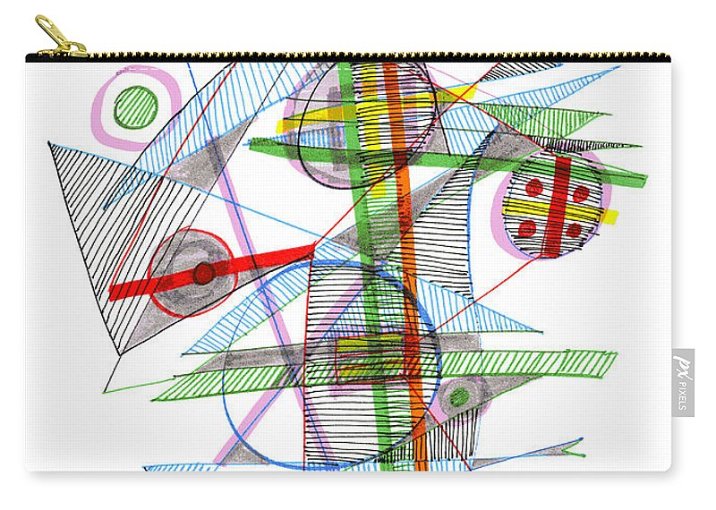 Abstract Carry-all Pouch featuring the drawing Abstract Pen Drawing Forty-nine by Lynne Taetzsch