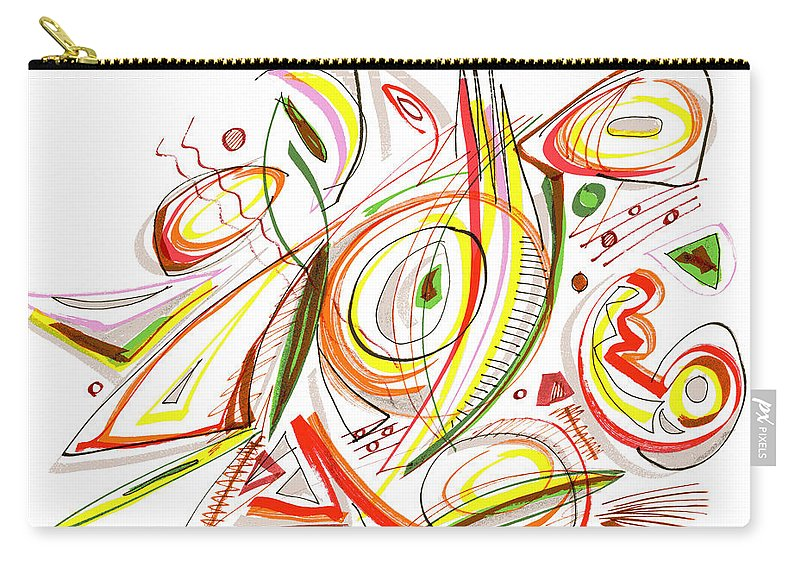 Abstract Carry-all Pouch featuring the drawing Abstract Pen Drawing Forty-six by Lynne Taetzsch