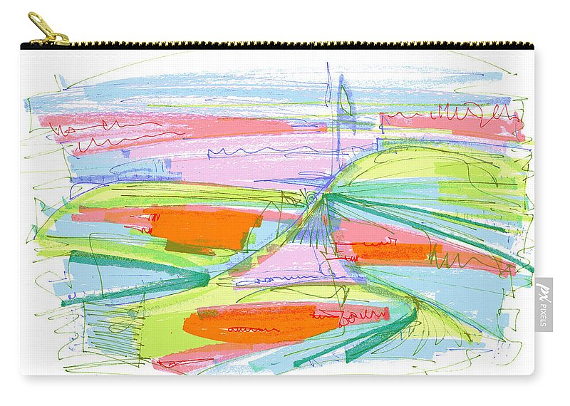 Abstract Carry-all Pouch featuring the drawing Abstract Pen Drawing Forty-three by Lynne Taetzsch