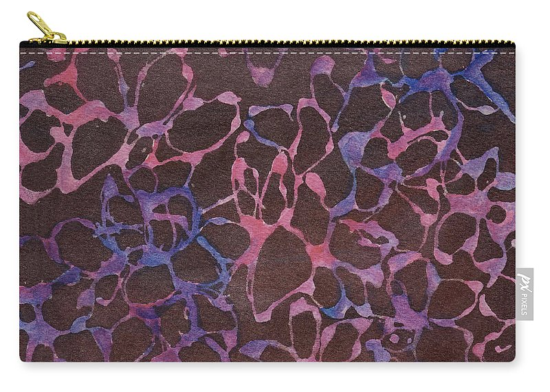 Pink Carry-all Pouch featuring the painting Abstract Pink And Purple by Phyllis Brady