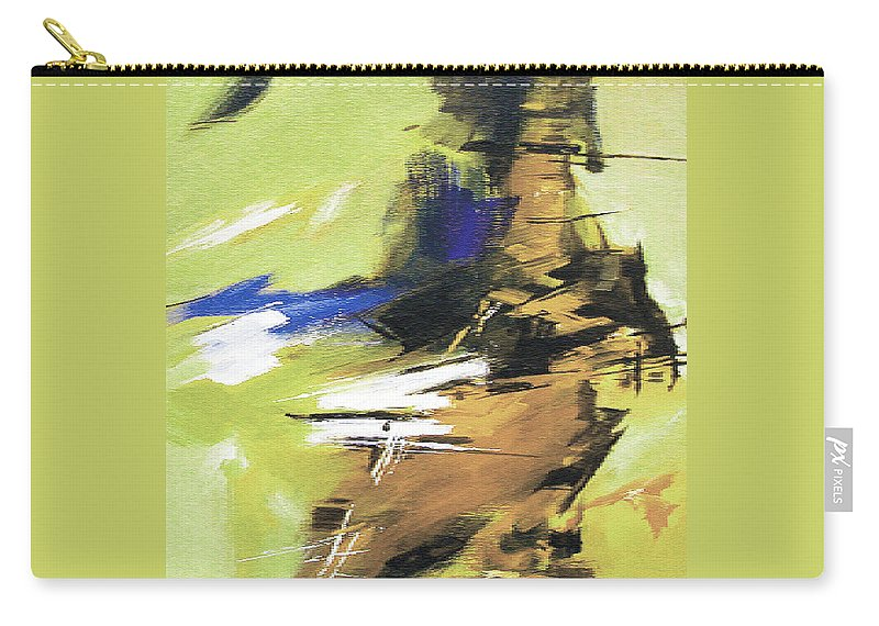 Abstract Carry-all Pouch featuring the painting Abstract R by Anil Nene