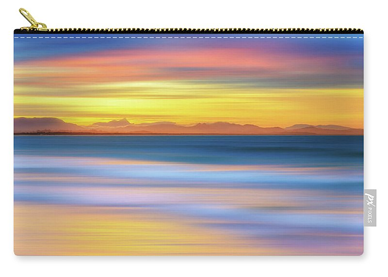 Tranquility Carry-all Pouch featuring the photograph Abstract Sunset by Andriislonchak