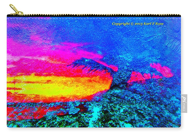 Abstract Carry-all Pouch featuring the photograph Abstract Sunset As A Painting by Karl Rose